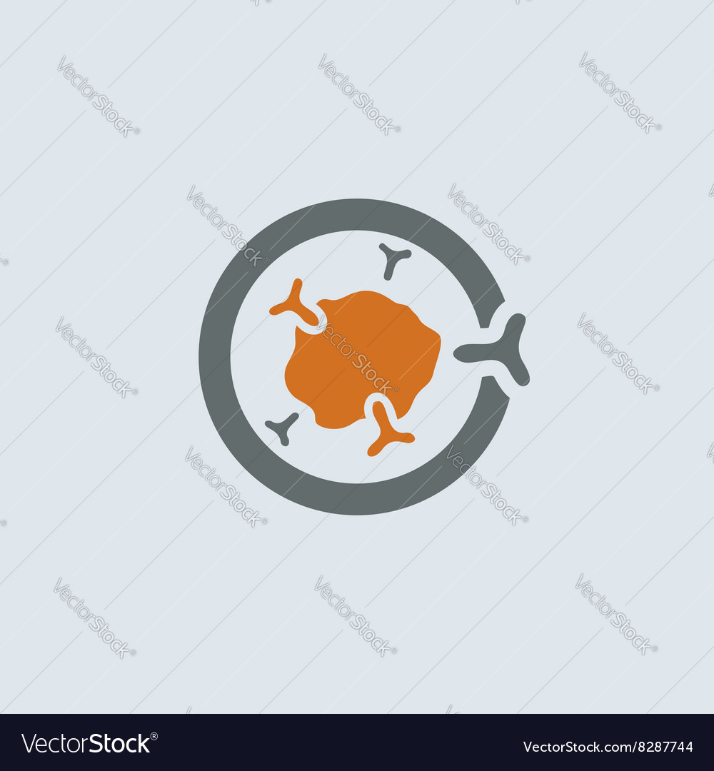 Gray-orange Immunoglobulin Round Icon vector image