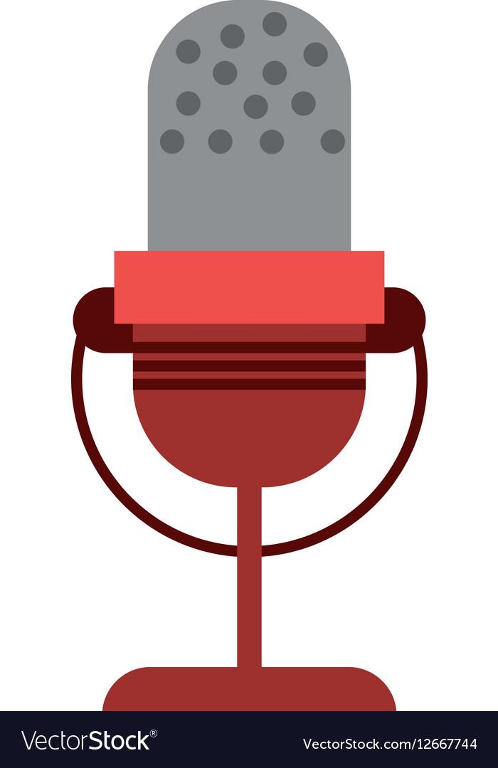 Microphone vintage communication audio vector image