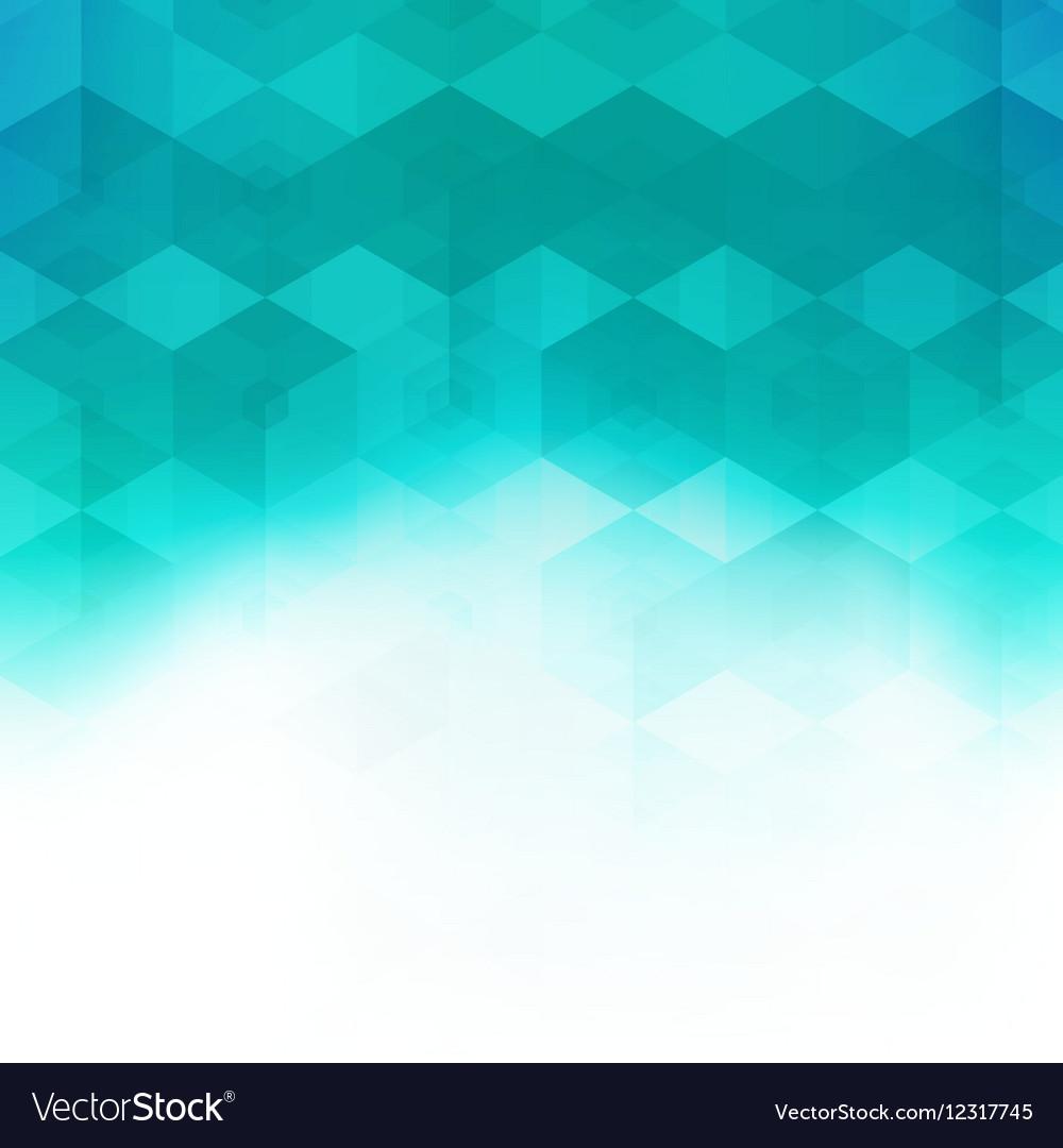 Abstract mosaic hexagonal geometric pattern vector image