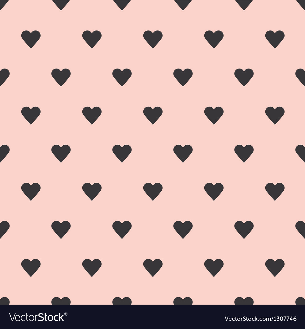 Hearts seamless pattern background Vector Image
