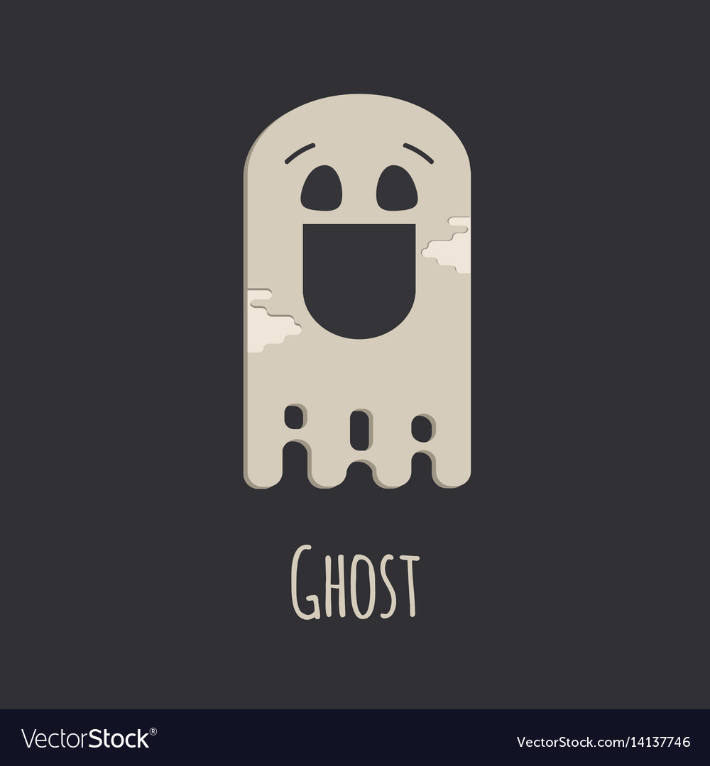 Funny ghost halloween silhouette character