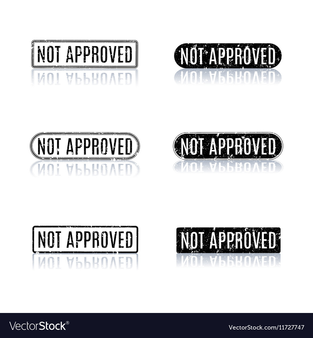 A set of stamps not approved vector image