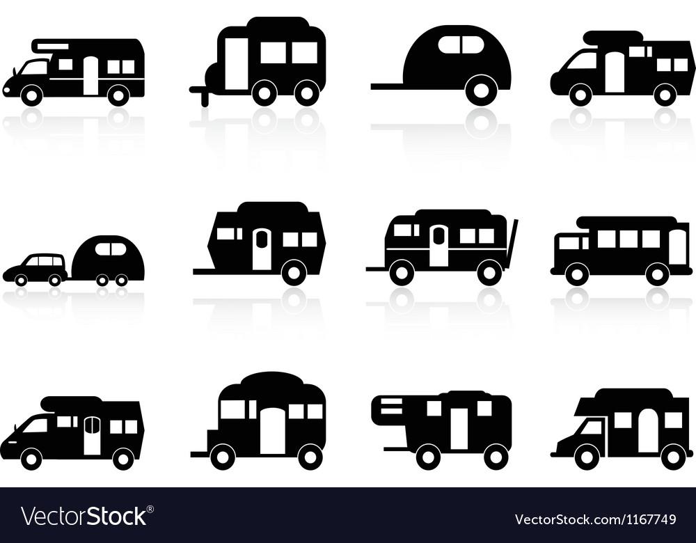 caravan  camper van symbol royalty  vector image