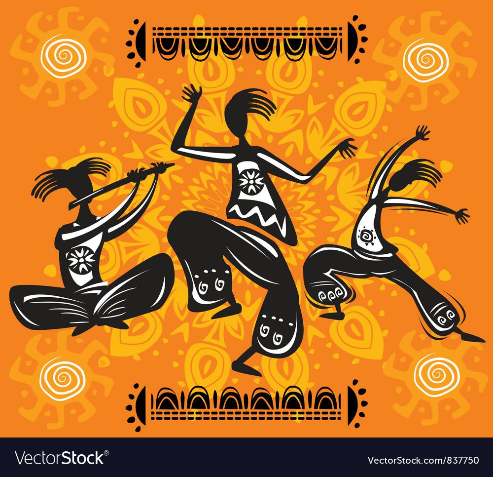 Dancing figures Vector Image