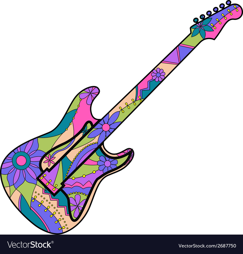 electric guitar royalty free vector image vectorstock rh vectorstock com electric guitar clipart vector electric guitar vector images