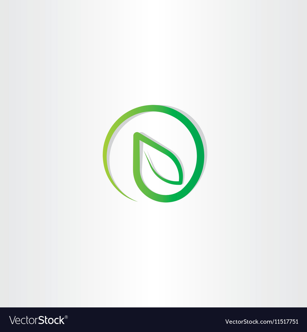 Bio leaf eco green nature logo icon vector image