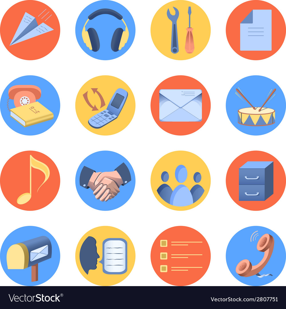 Flat icon modern set for mobile interface vector image