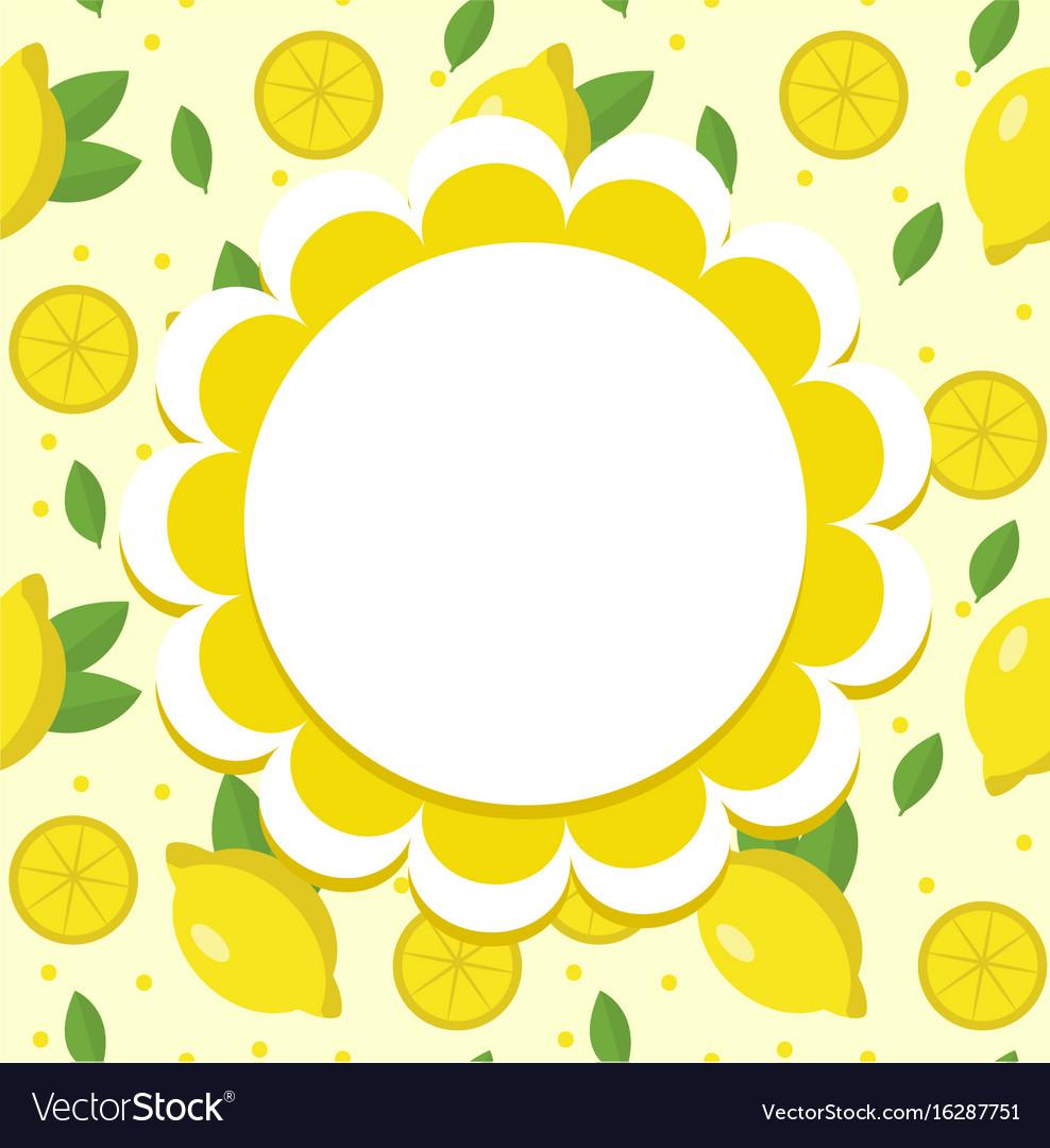 Lemon label wrapper template for your design vector image