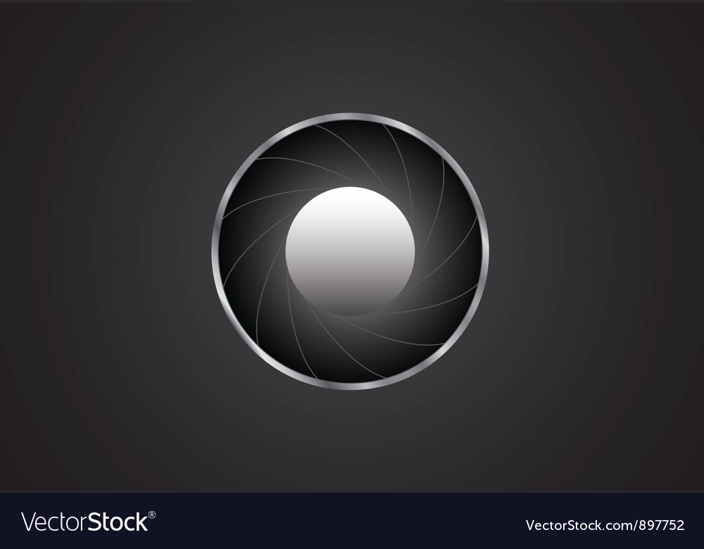 Background with diaphragm Vector Image