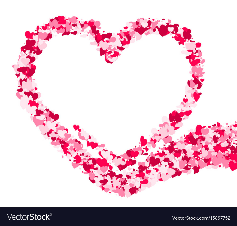 Valentines love background with heart vector image