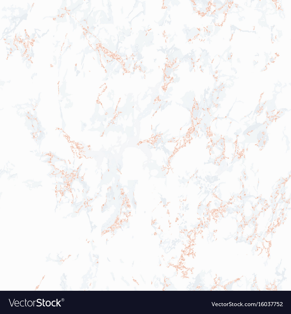 white marble texture with rose gold royalty free vector