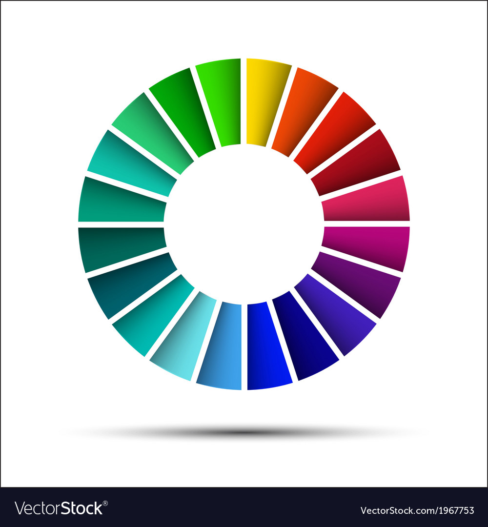 Color palette isolated on white background vector image
