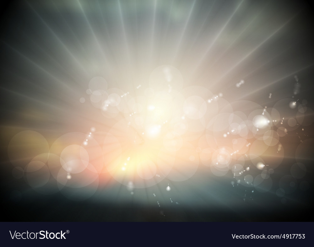 Dark sunset abstract background Nature design vector image