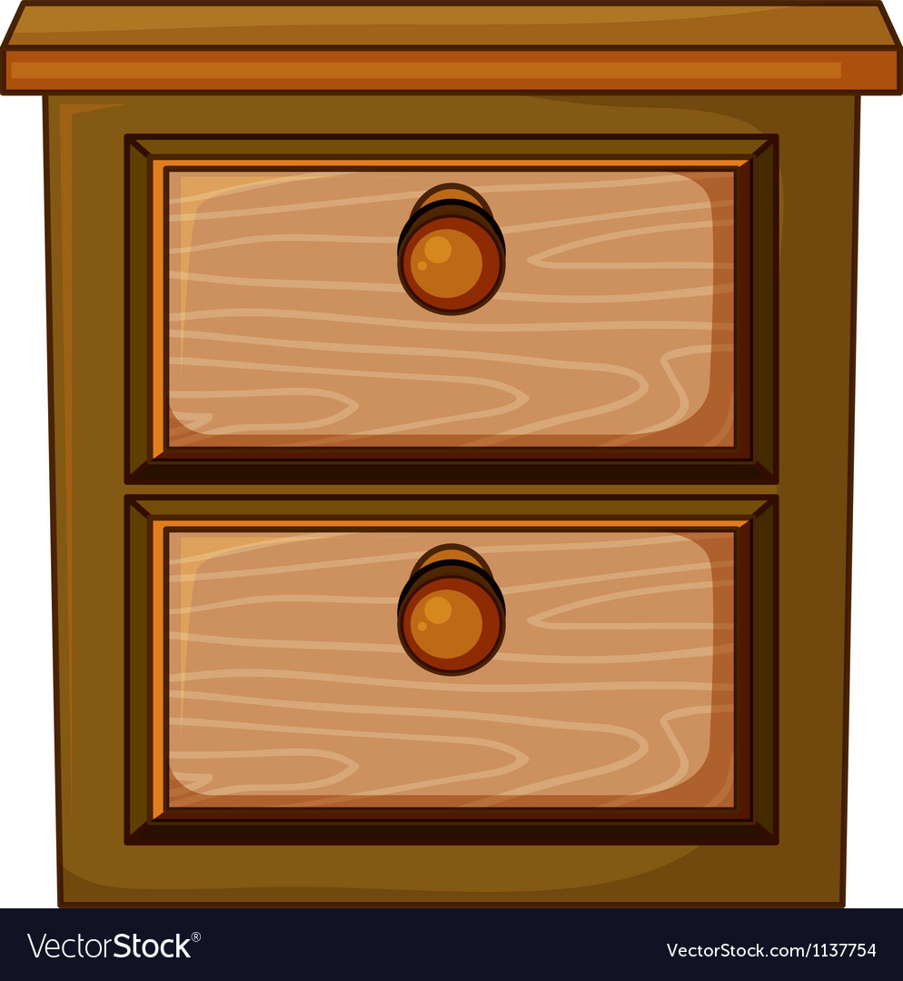 A bed stand vector image