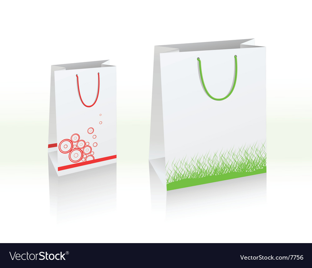 Fashion shopping bags vector image