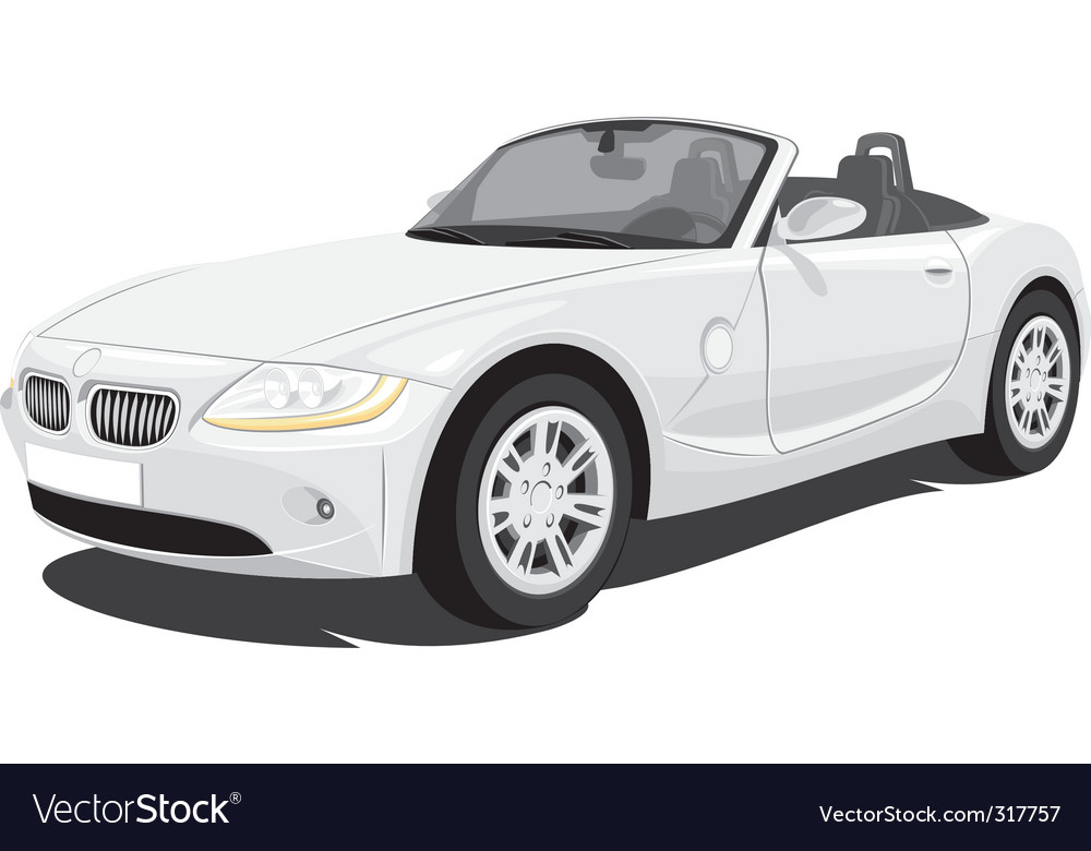 Convertible car vector image
