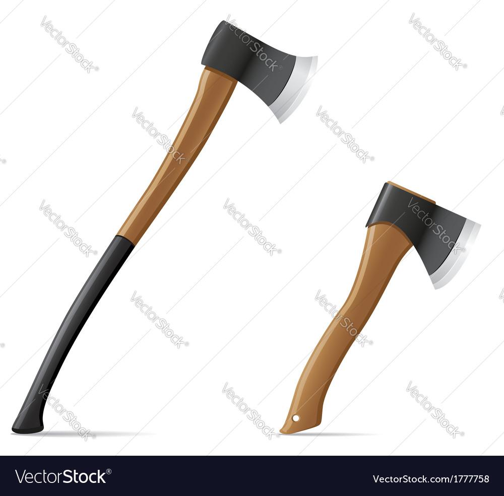 Tool axe 06 vector image
