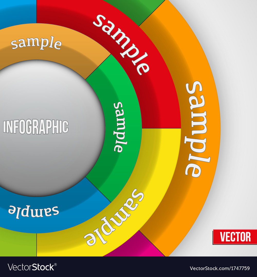 Business Infographics Circle vector image