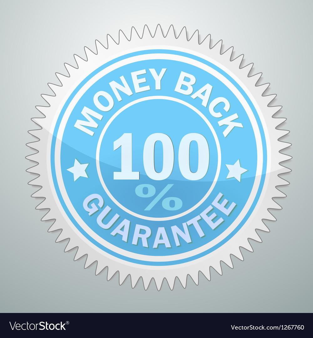 Badge of money back guarantee vector image