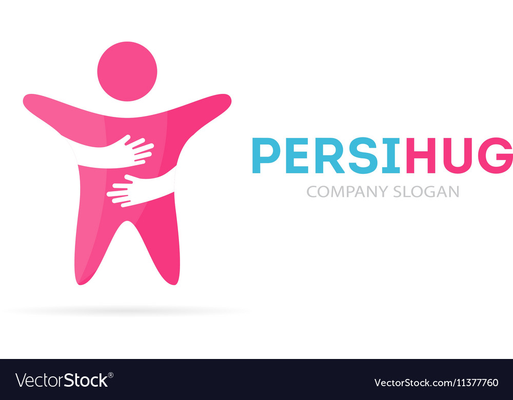 Man and hands logo combination Human and vector image