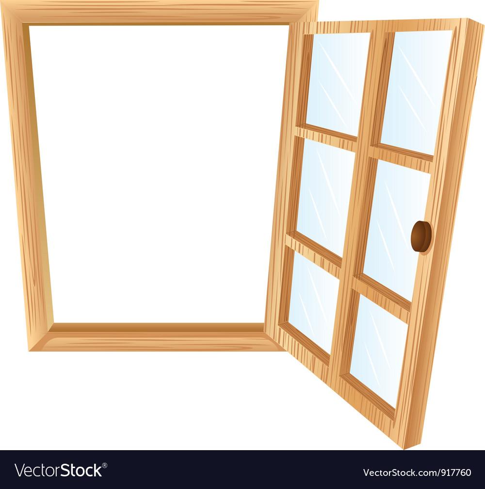 Single window frame vector image