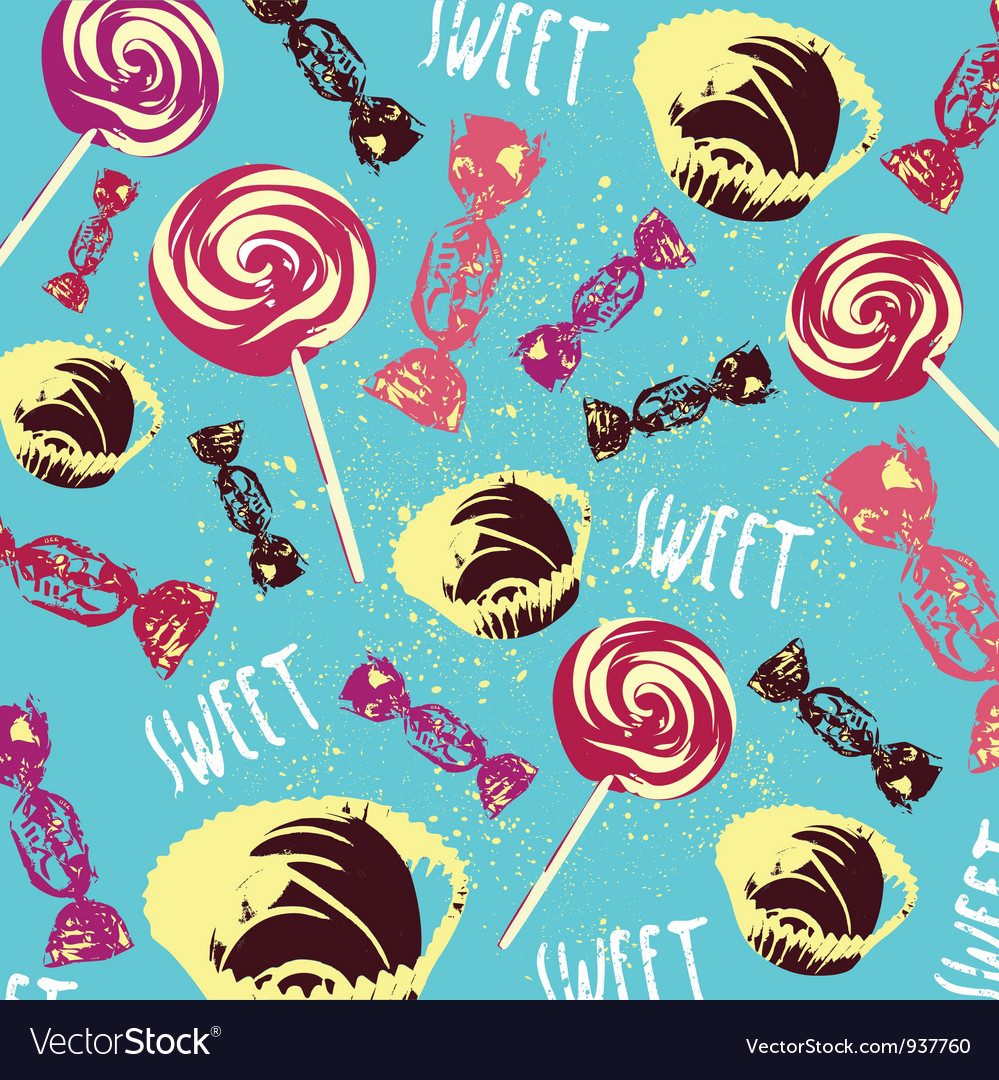 Vintage Confectionery Pattern Background vector image