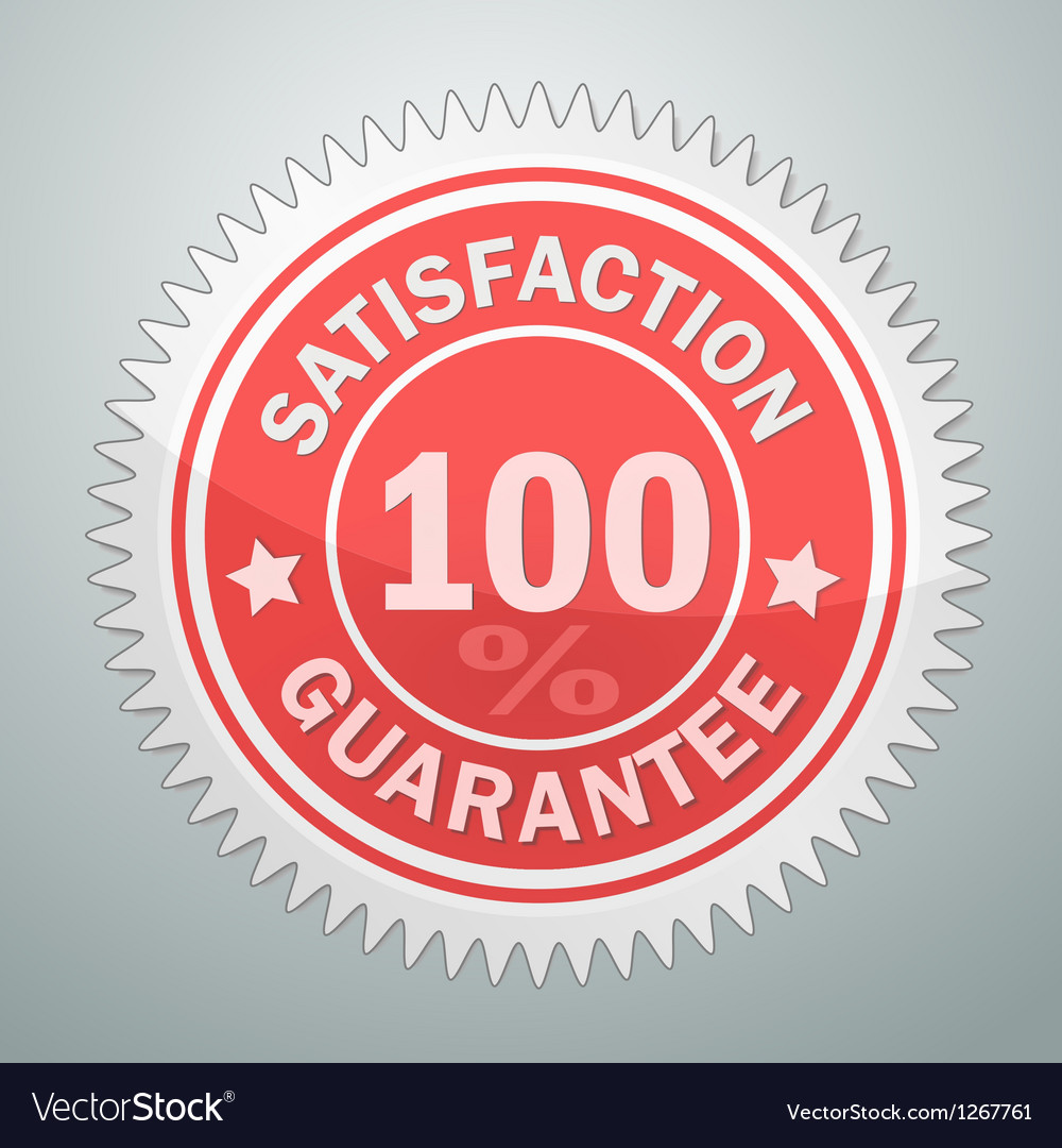 Badge of satisfaction guarantee vector image
