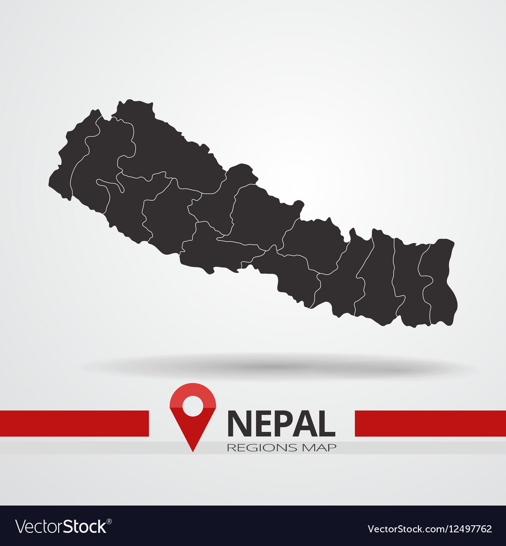 Nepal map vector image