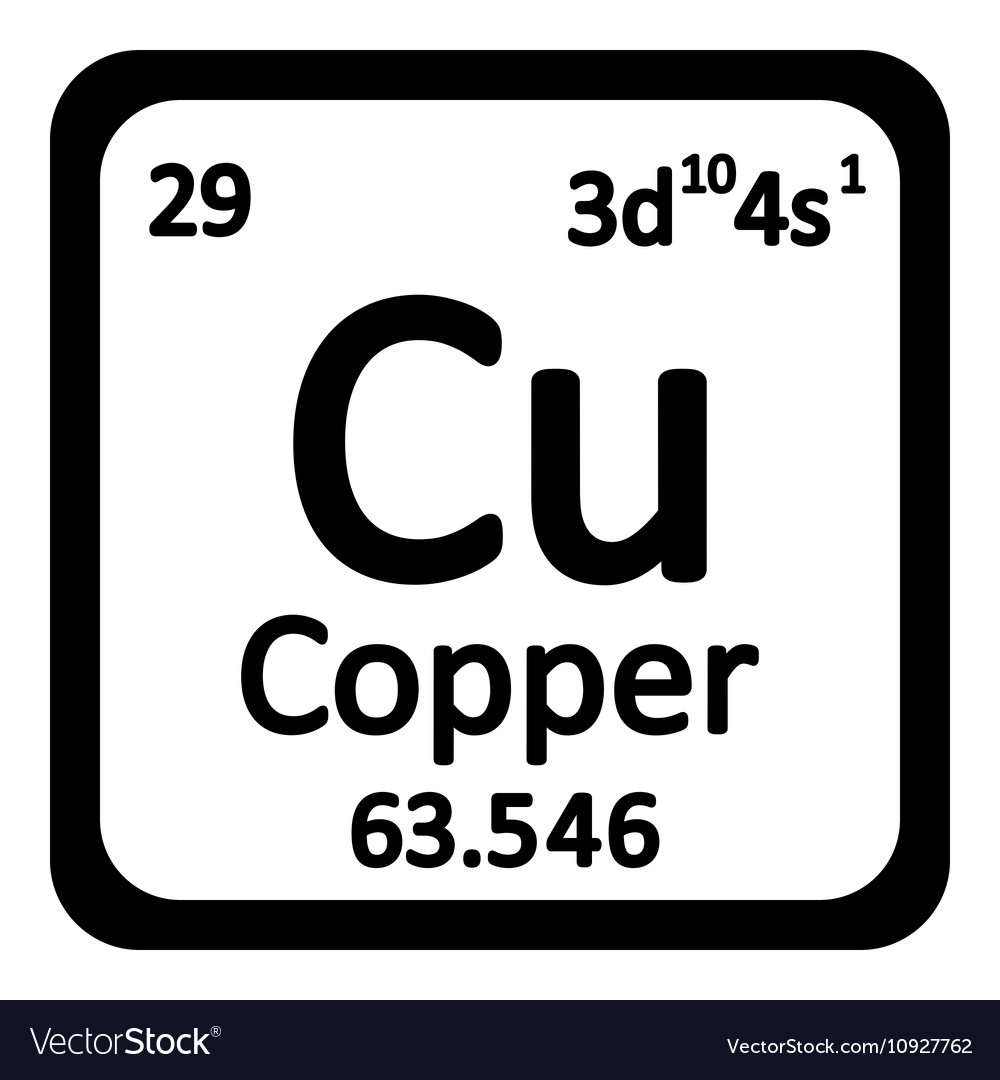 Atomic symbol of copper gallery symbol and sign ideas periodic table element copper icon royalty free vector image periodic table element copper icon vector image urtaz Choice Image