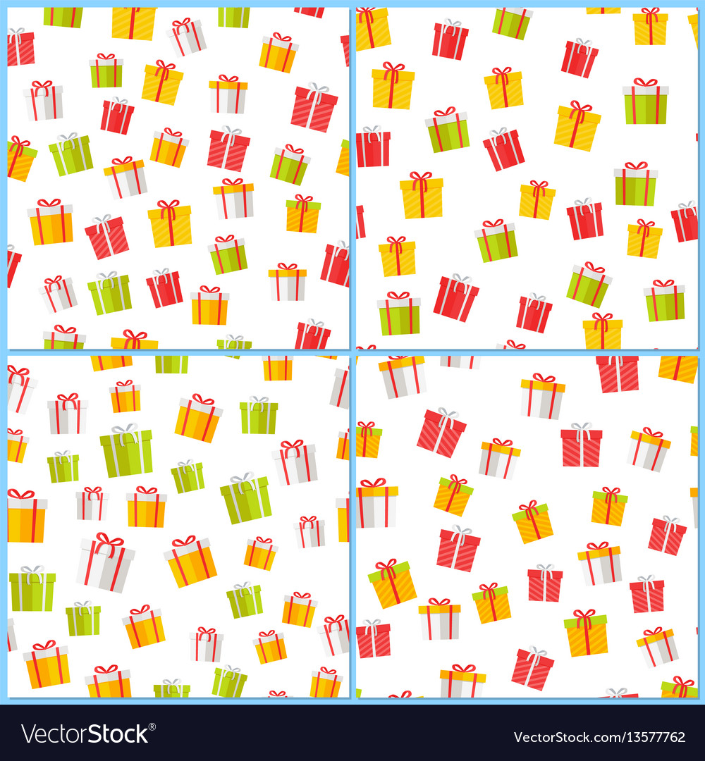 Pictogram giftboxes picture collection on white vector image