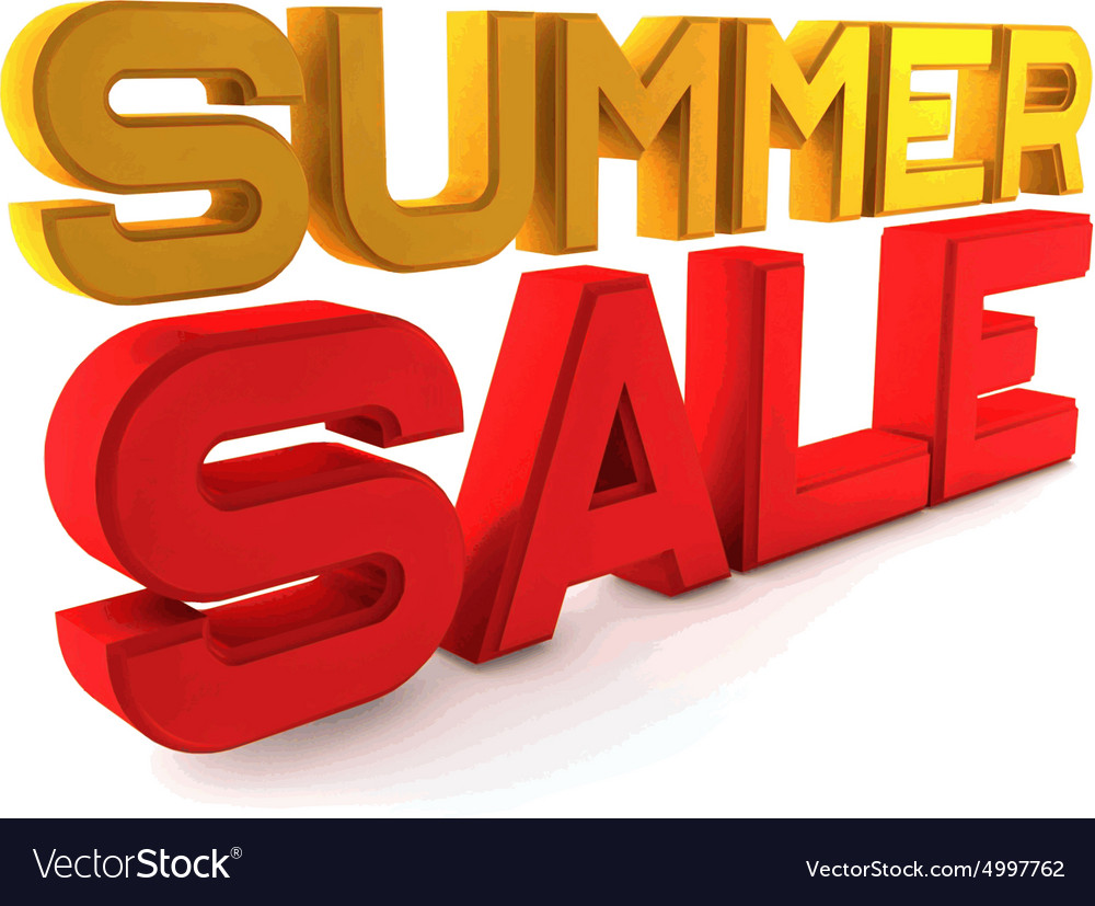 Large Letters For Sale Enchanting Summer Sale Large Threedimensional Letters On A Vector Image 2018