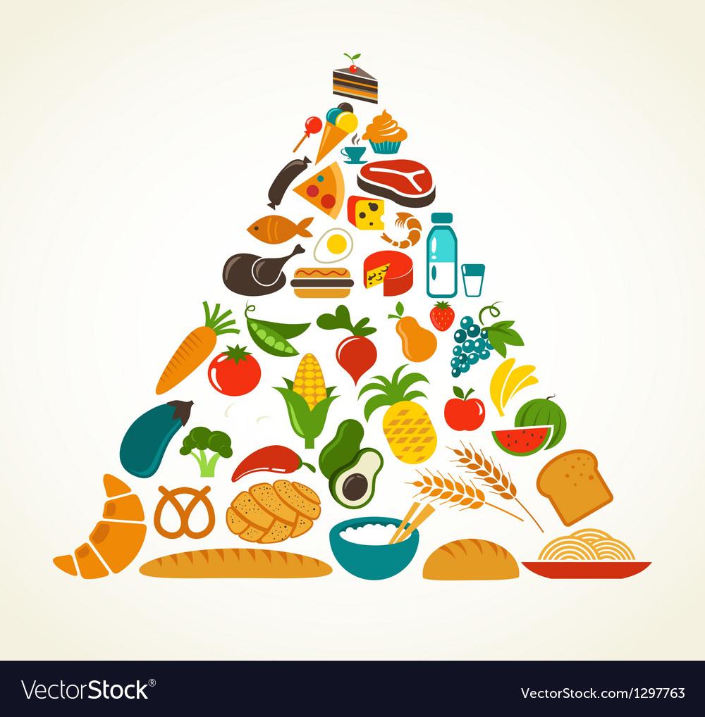 Health food pyramid Vector Image