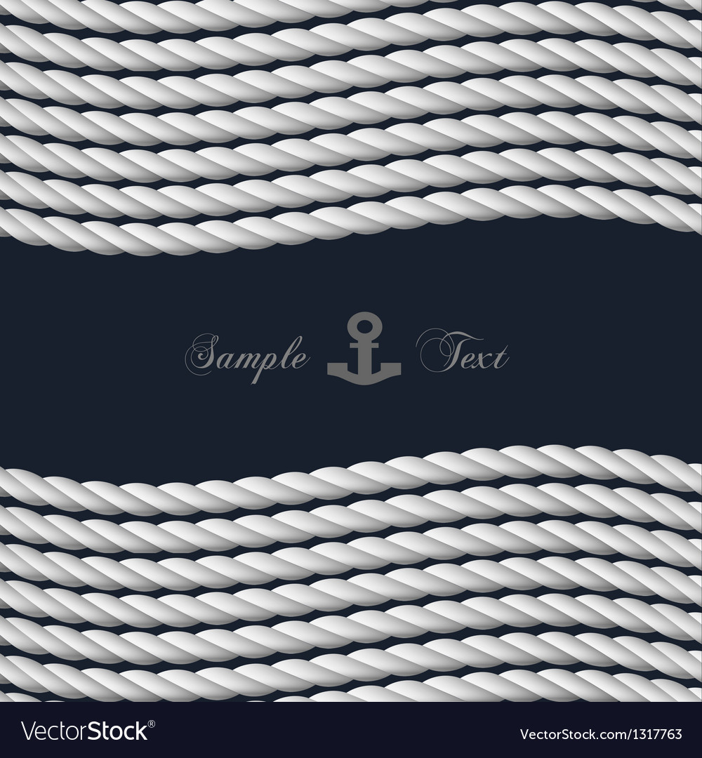 Background with nautical rope vector image
