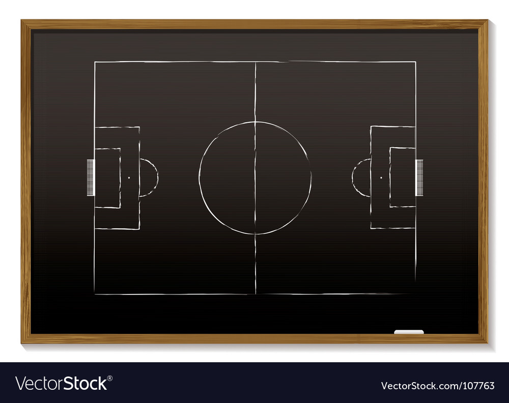 Football blackboard vector image