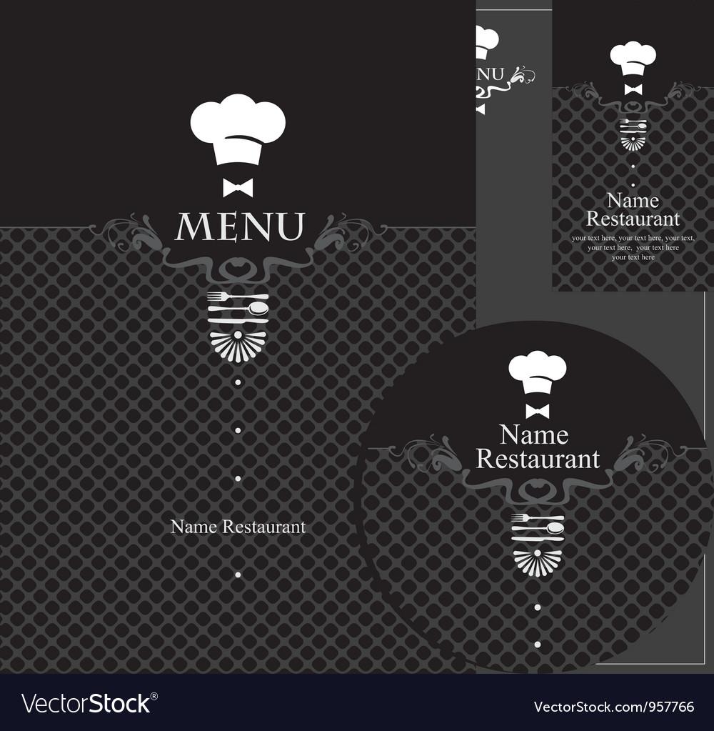 Menu waiter vector image