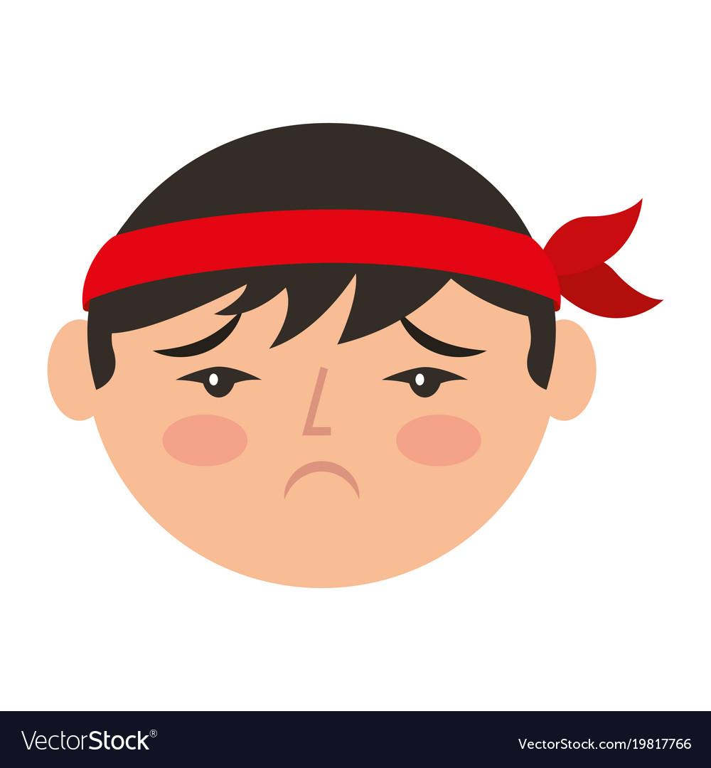 Cartoon sad face chinese man royalty free vector image cartoon sad face chinese man vector image voltagebd Images