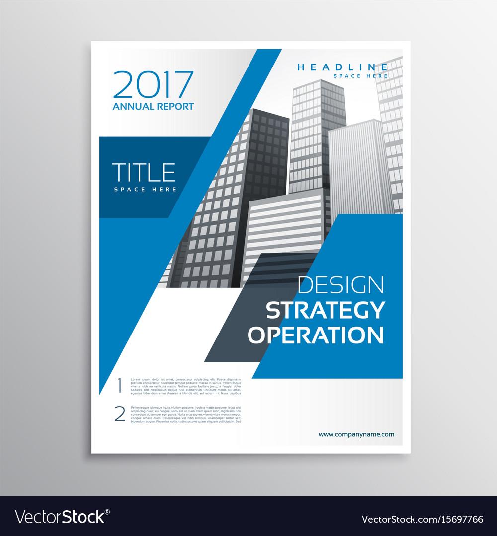 Modern Blue Business Brochure Template Design Vector Image - Business brochure template