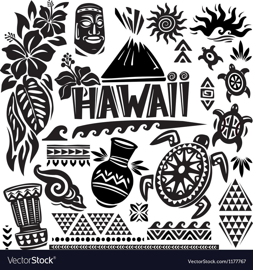 Hawaii Set vector image
