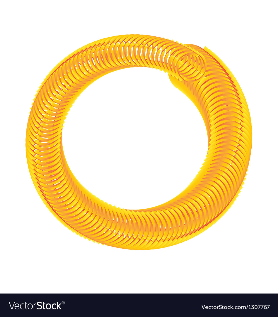 Golden hose vector image