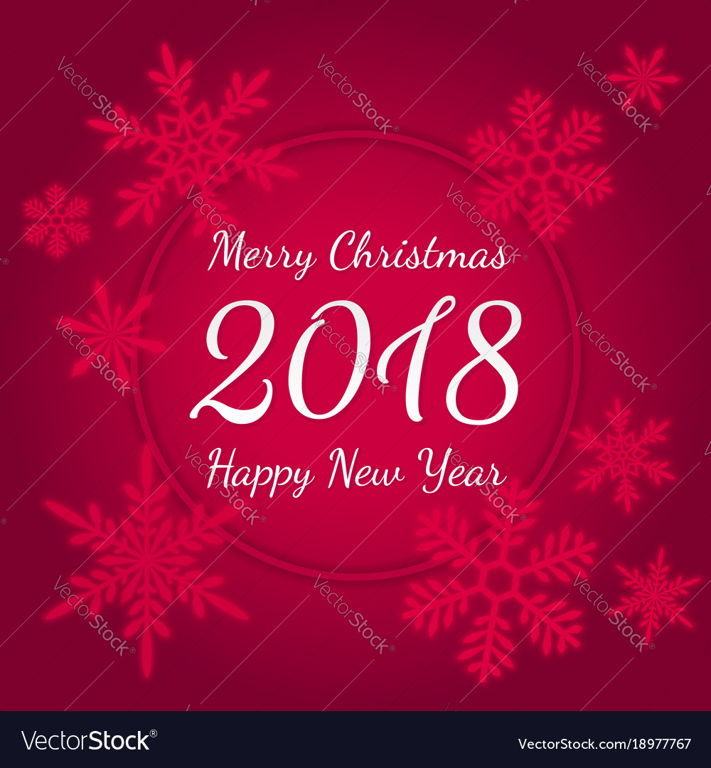 Merry christmas and happy new year 2018 greeting vector image kristyandbryce Images