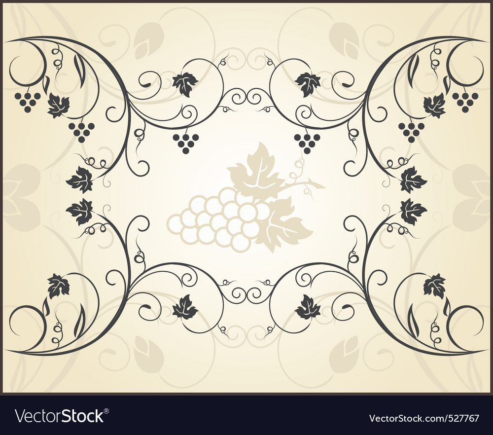 Retro engraving of grapevine vector image