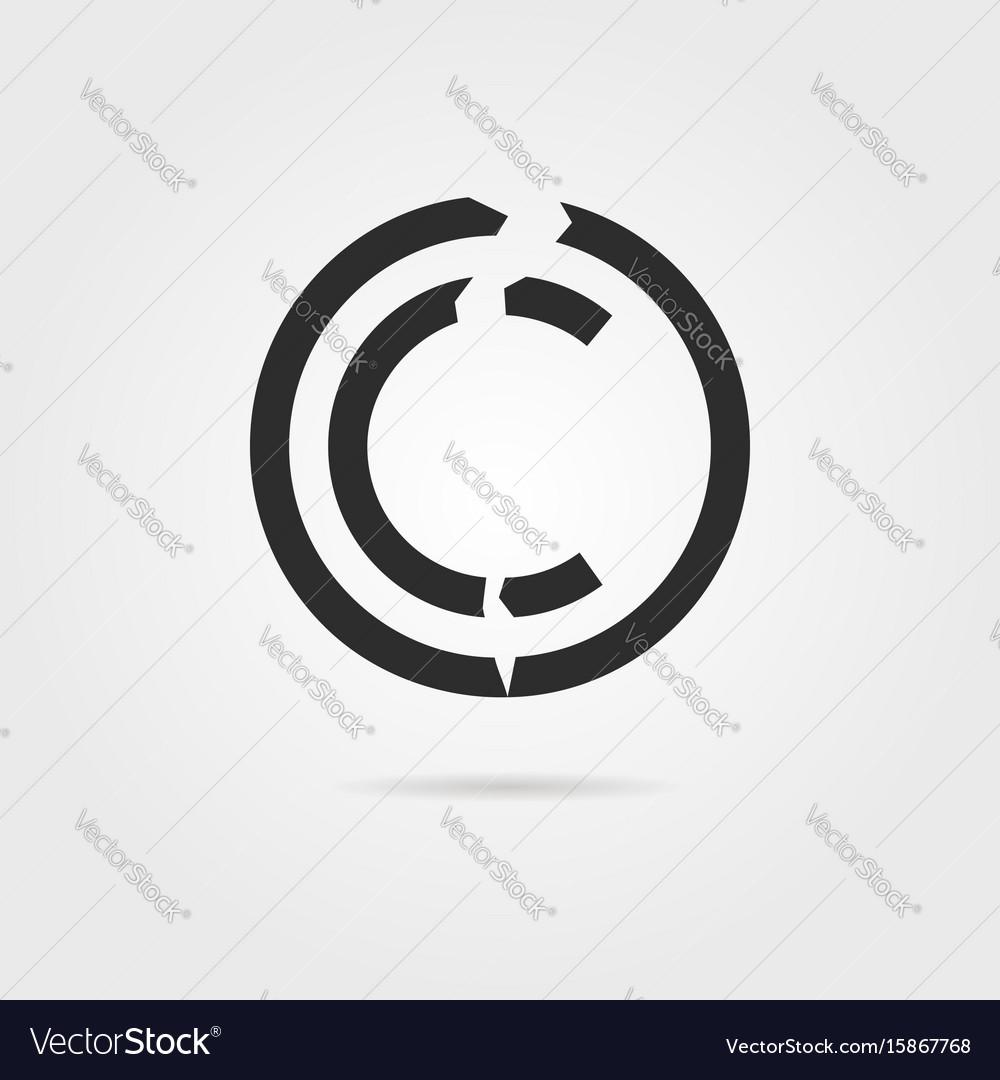 Broken copyright symbol with shadow royalty free vector broken copyright symbol with shadow vector image biocorpaavc