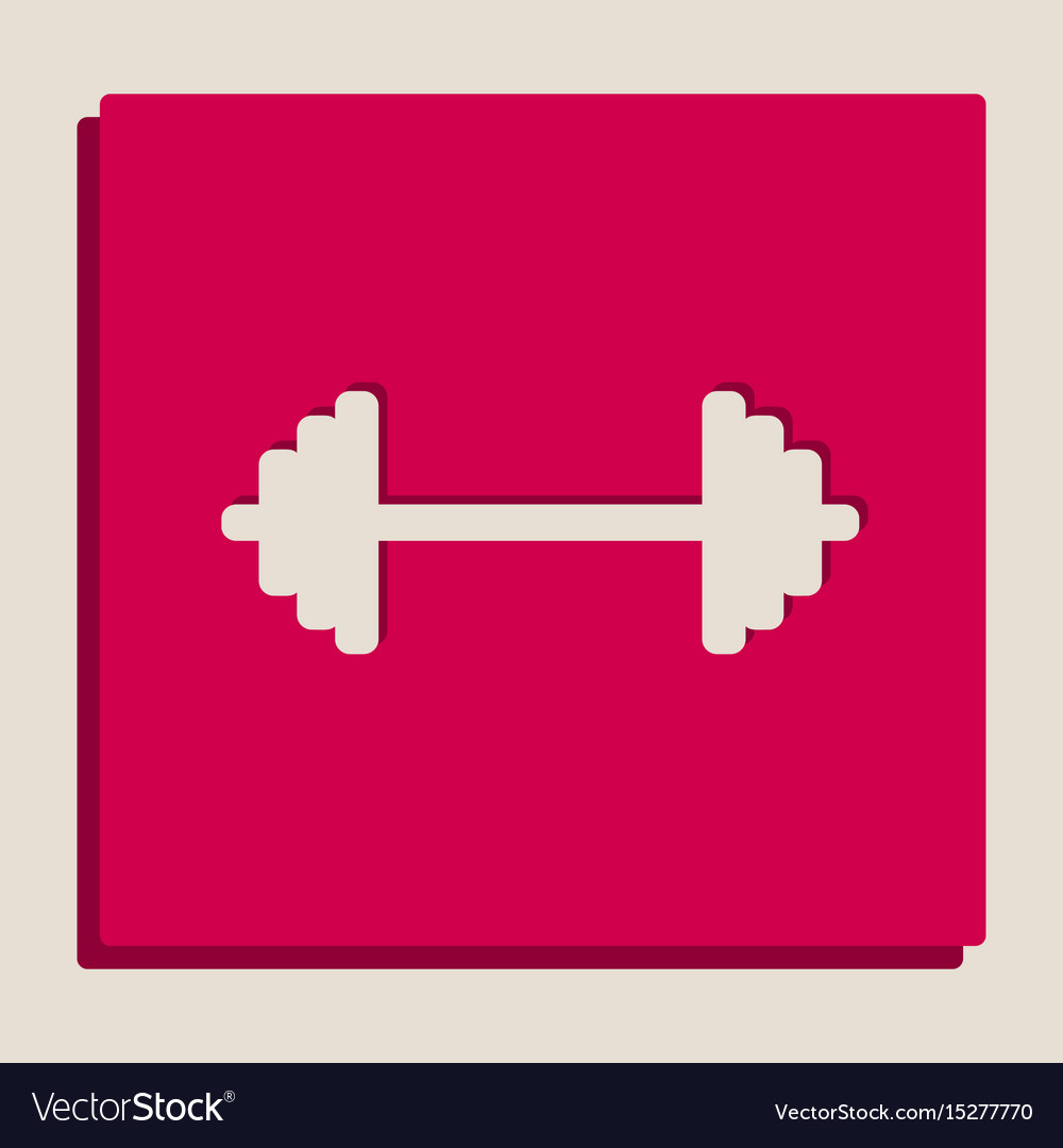 Dumbbell weights sign grayscale version vector image