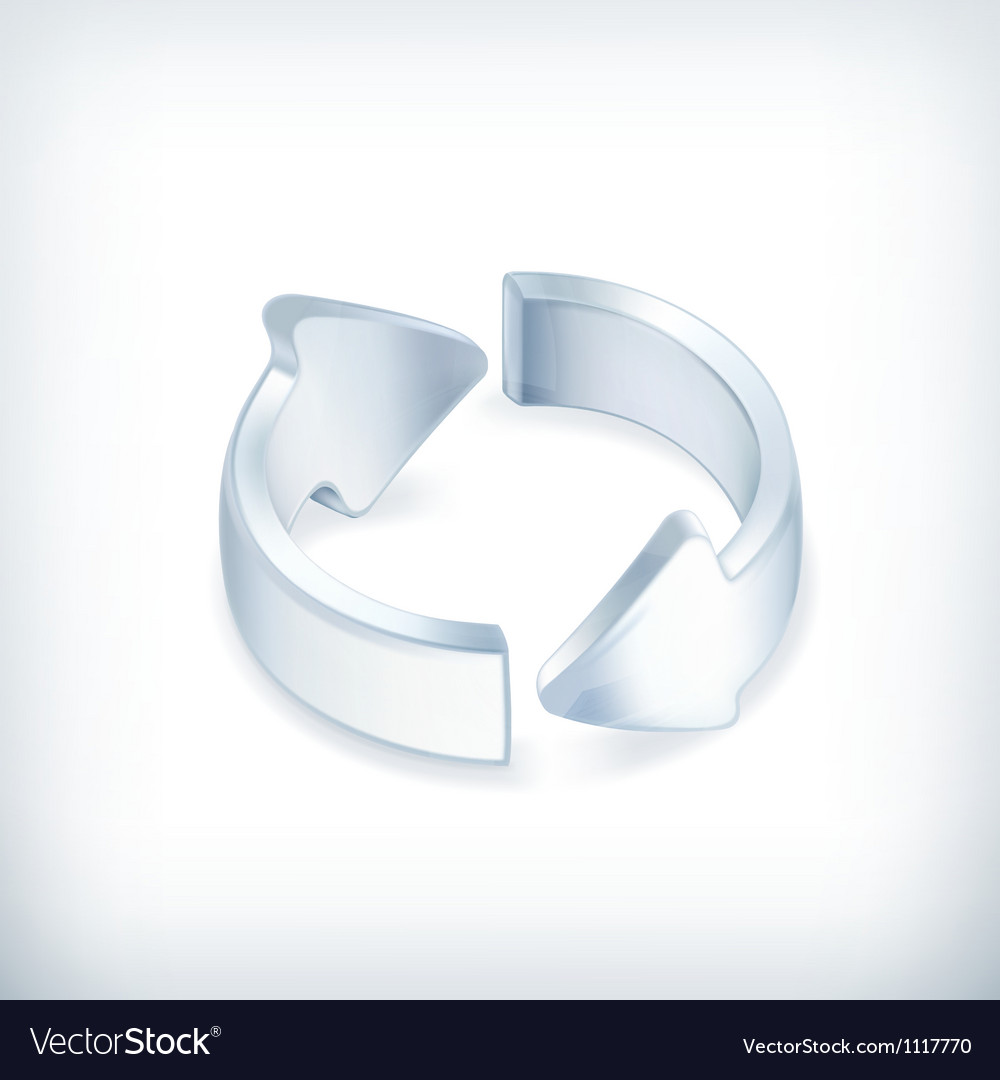 White arrows icon vector image