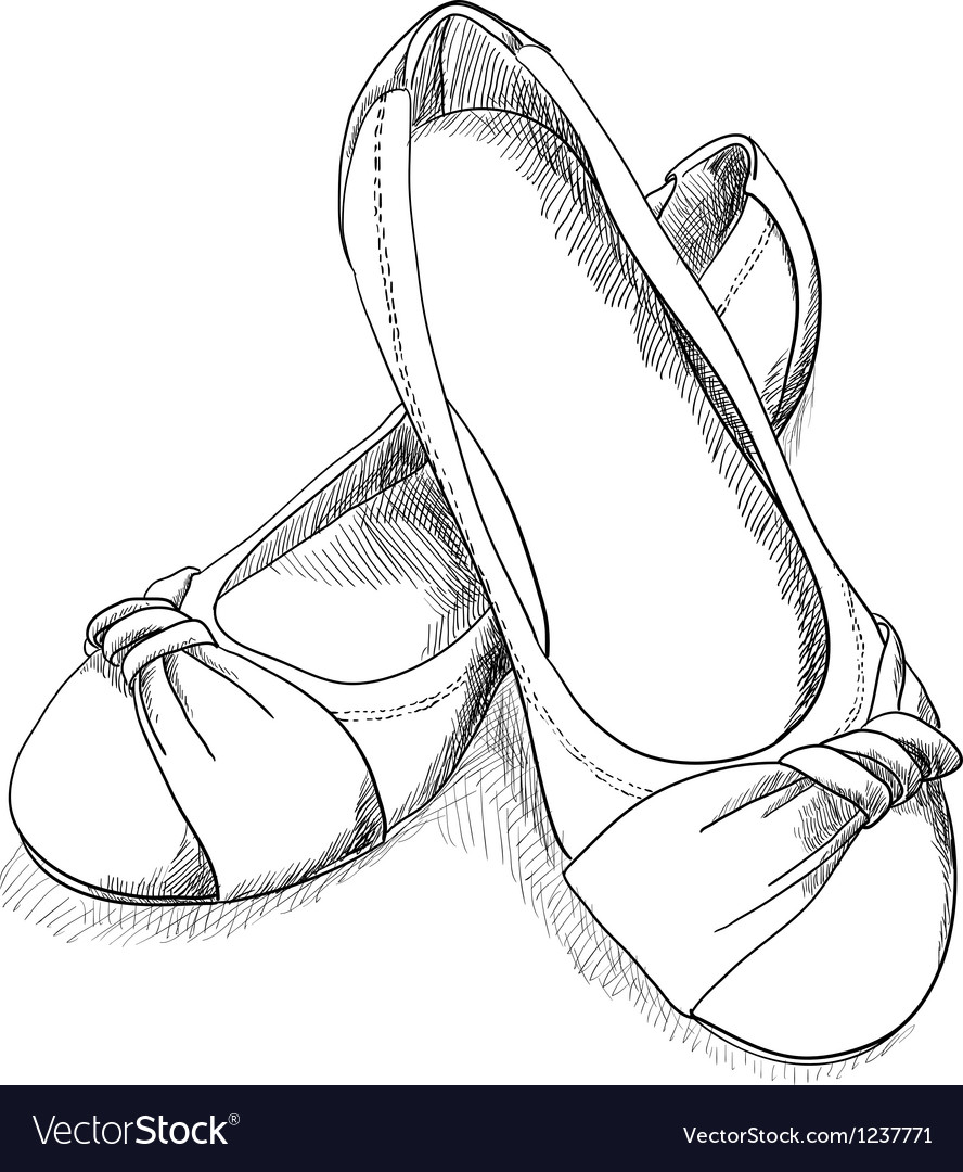 Ballerina shoes vector image