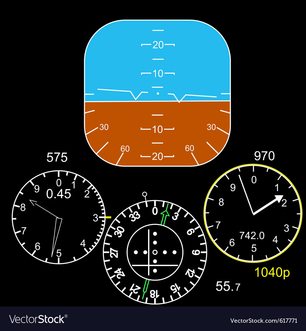 Cockpit control panel vector image