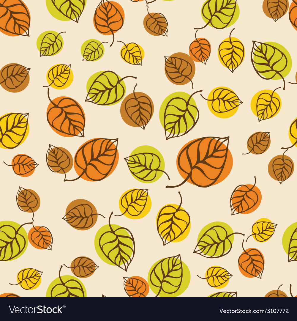 Autumn leaves pattern for design wrapping paper vector image