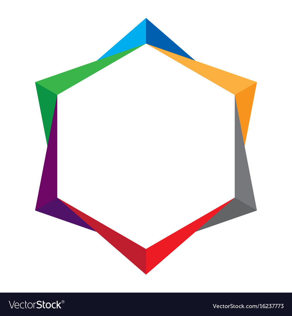 Colorful abstract shape on white background vector image