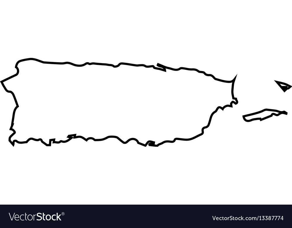 isolated puerto rico map vector image. isolated puerto rico map royalty free vector image