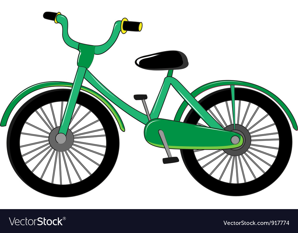 Small green bike vector image
